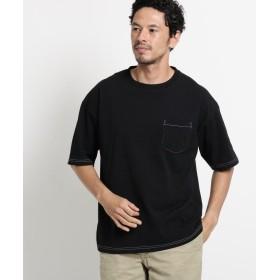 OPAQUE.CLIP(オペークドットクリップ) コットン ステッチワイドTシャツ