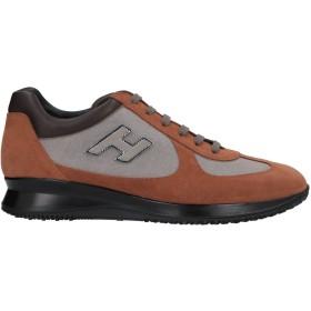 《セール開催中》HOGAN メンズ スニーカー&テニスシューズ(ローカット) ブラウン 8.5 革 / 紡績繊維