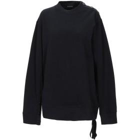 《期間限定セール開催中!》ANN DEMEULEMEESTER レディース スウェットシャツ ブラック 38 コットン 100%