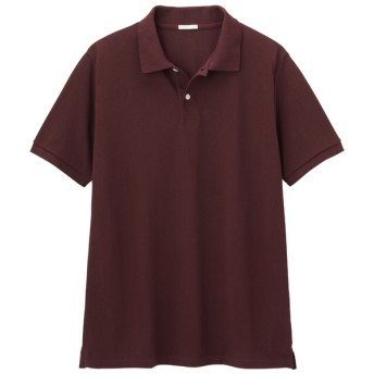 (GU)GUドライポロシャツ(半袖)CL WINE XL