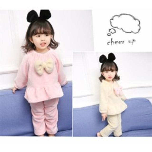 6992f49dc3585 韓国子供服 キッズ ベビー パジャマ モコモコ 可愛い 子供用 90-130cm 厚手 冬 赤ちゃん