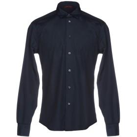 《セール開催中》BARENA メンズ シャツ ダークブルー 48 100% コットン