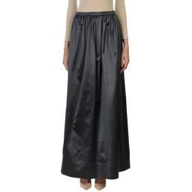 《送料無料》BRUNELLO CUCINELLI レディース ロングスカート スチールグレー XL コットン 55% / シルク 45%