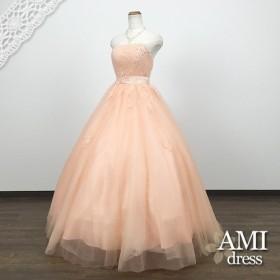 カラードレス オレンジ 5号7号9号11号 プリンセスラインドレス 花嫁 結婚式 二次会 6190