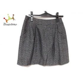 エストネーション ESTNATION ミニスカート サイズ38 M レディース 美品 黒×グレー×白 ラメ 新着 20190614