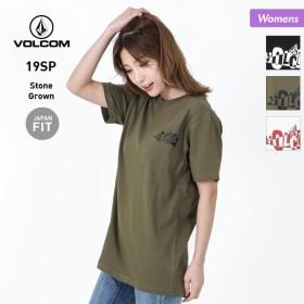 VOLCOM/ボルコム レディース 半袖 Tシャツ ティーシャツ トップス ロゴ カーキ 白色 ホワイト 黒色 ブラック B35119JA