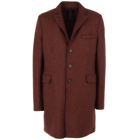 《期間限定セール開催中!》HARRIS WHARF LONDON メンズ コート ココア 50 バージンウール 100%