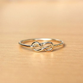 14kgf*インフィニティ結び*リング【金】 Infinity knot gold ring