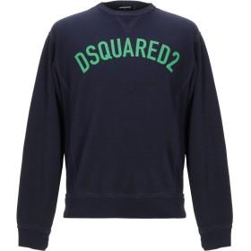 《期間限定 セール開催中》DSQUARED2 メンズ スウェットシャツ ダークブルー XS コットン 100% / ポリウレタン
