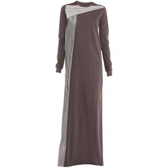 《セール開催中》RICK OWENS レディース ロングワンピース&ドレス ココア 40 コットン 100%