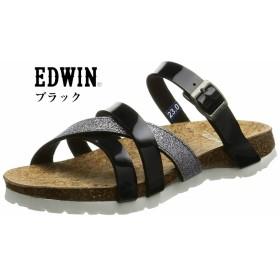 EDWIN EW9460 (エドウィン) フットベット カジュアルリゾートサンダル つっかけ ラメやエナメルでエレガントな雰囲気 レディス