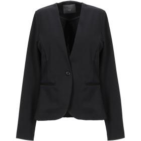 《セール開催中》ICHI レディース テーラードジャケット ブラック XS ポリエステル 74% / レーヨン 22% / ポリウレタン 4%