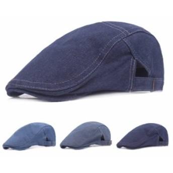 ハンチング メンズ 大きいサイズ 男性用 レディース 帽子 ハンチング帽 デニム ユニセックス 男女兼用 ゴルフ キャップ ネコポス送料無料