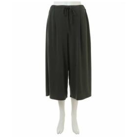 eur3 / 【大きいサイズ】【接触冷感】履くと涼しい!ドレープワイドパンツ