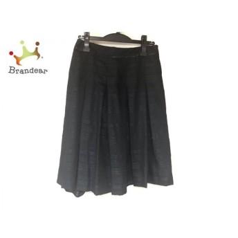ニジュウサンク 23区 スカート サイズ40 M レディース 黒 ボーダー/ラメ 値下げ 20190917