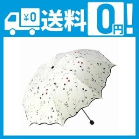 QIJOVO 折り畳み傘 強度 8本骨 折りたたみ傘 花柄 晴雨兼用 日傘 UVカット 紫外線遮蔽率99% 高密度NC布 耐風撥水 収納ポーチ付き(海
