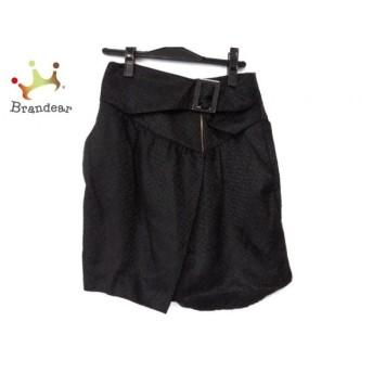 シーバイクロエ SEE BY CHLOE スカート サイズ38 M レディース 黒×ダークブラウン 値下げ 20190919