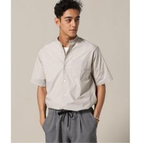 [マルイ]【セール】メンズシャツ(ストライプバンドカラーシャツ)/417エディフィス(417 EDIFICE)