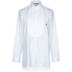 《セール開催中》NEIL BARRETT メンズ シャツ ホワイト 41 コットン 96% / ポリウレタン 4%