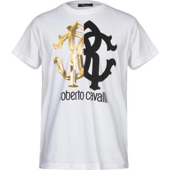 《期間限定セール開催中!》ROBERTO CAVALLI メンズ T シャツ ホワイト S コットン 100%