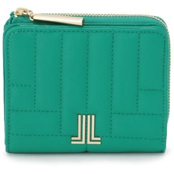 LANVIN en Bleu(BAG) LANVIN en Bleu ランバンオンブルー ベルシー Lファスナー二つ折り財布 財布,グリーン