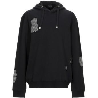 《9/20まで! 限定セール開催中》JUST CAVALLI メンズ スウェットシャツ ブラック XS コットン 100%