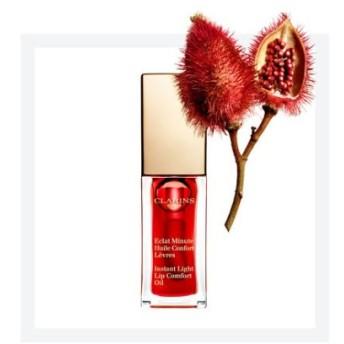 CLARINS クラランス コンフォート リップ オイル7ml 03レッドベリー 1番人気色/Qoo10最安 ぷるんとした唇に導くリップオイル