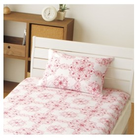 綿100%水彩調オーナメント柄枕カバー(クレール) 枕カバー・ピローパッド