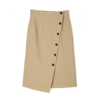 NATURAL BEAUTY BASIC サイドボタンアシメナロースカート