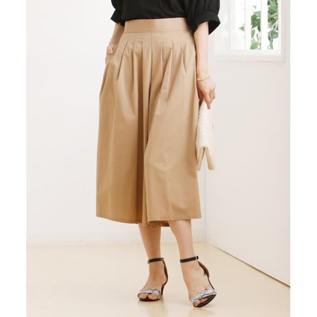 きれいめチノ素材タックスカーチョ (レディースパンツ),pants
