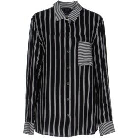《期間限定セール開催中!》ARMANI JEANS レディース シャツ ブラック 48 レーヨン 100%