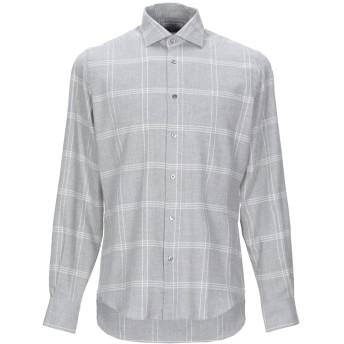 《期間限定セール開催中!》BOGLIOLI メンズ シャツ グレー 41 コットン 100%