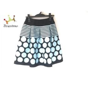 エムズグレイシー スカート サイズ36 S レディース 黒×エメラルドグリーン ドット柄/ボーダー   スペシャル特価 20190830
