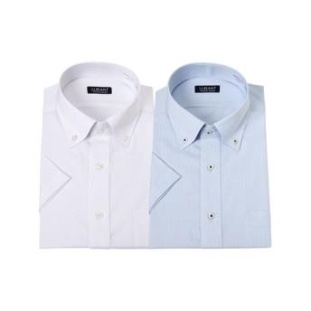 お買い得形態安定半袖ワイシャツ2枚組(ボタンダウン) (ワイシャツ)