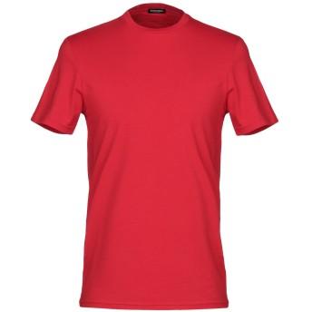 《セール開催中》DSQUARED2 メンズ アンダーTシャツ レッド XL コットン 95% / ポリウレタン 5%