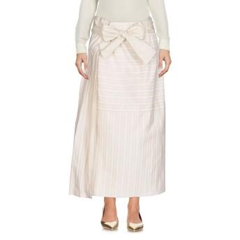 《セール開催中》GENTRYPORTOFINO レディース 7分丈スカート ベージュ 40 コットン 100%