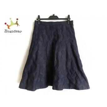 ヒロコビス HIROKO BIS スカート サイズ9 M レディース 黒×ダークネイビー スペシャル特価 20190912