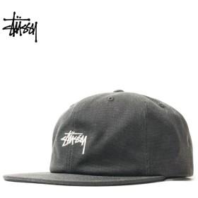 ステューシー STUSSY キャップ 帽子 メンズ レディース スナップバック STOCK WASHED CANVAS CAP ブラック 黒 131869 6/18 新入荷
