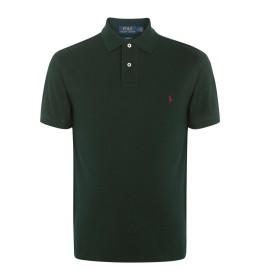 《セール開催中》POLO RALPH LAUREN メンズ ポロシャツ グリーン XS コットン 100% SLIM FIT MESH POLO SHIRT