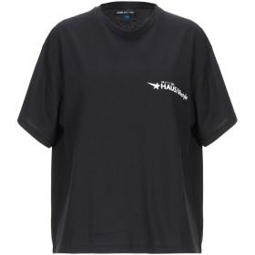 《期間限定セール開催中!》HAUS GOLDEN GOOSE レディース T シャツ ブラック XS コットン 100%