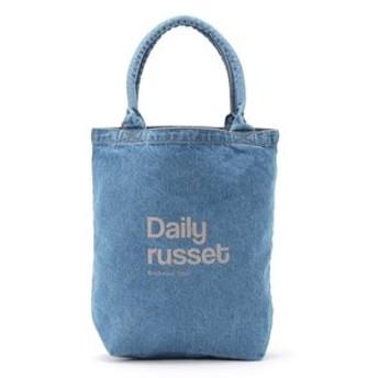 Daily russet デイリーラシット デニムパイプハンドルトートバッグ L