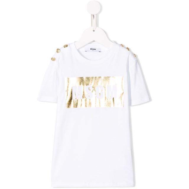 Msgm Kids ロゴ Tシャツ - ホワイト