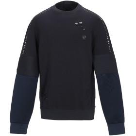 《期間限定 セール開催中》PHILIPP PLEIN メンズ スウェットシャツ ダークブルー S コットン 100% / ポリエステル / ポリウレタン