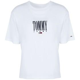 《期間限定セール開催中!》TOMMY JEANS レディース T シャツ ホワイト XS コットン 100% TJW EMBROIDERY GRAPH