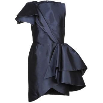 《セール開催中》LANVIN レディース ミニワンピース&ドレス ダークブルー 34 シルク 100%
