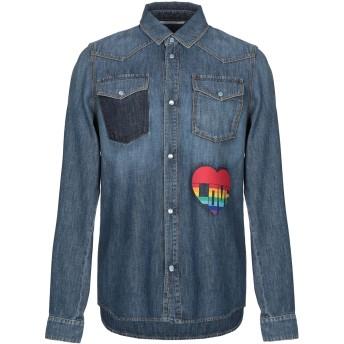 《期間限定セール開催中!》VALENTINO メンズ デニムシャツ ブルー 52 コットン 100%