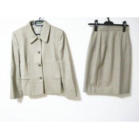 ニューヨーカー NEW YORKER スカートスーツ サイズ9 M レディース ベージュ 肩パッド【中古】