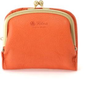 Folna [フォルナ]Folnaヌメ革がま口二つ折り財布 財布,オレンジ
