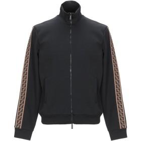 《セール開催中》FENDI メンズ スウェットシャツ ブラック 48 指定外繊維(紙) 52% / ポリエステル 48% / ナイロン / ポリウレタン