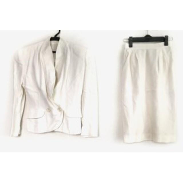 ジュンコシマダ JUNKO SHIMADA スカートスーツ サイズ7 S レディース 白【中古】